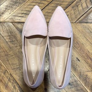 Pale Pink Pointed Toe Loafers
